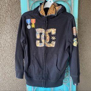 4t hooded zip up DC sweatshirt camo
